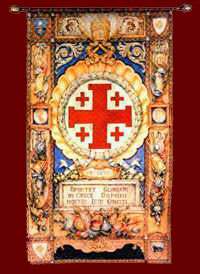 Banner of the Equestrian Order of the Holy Sepulchre of Jerusalem