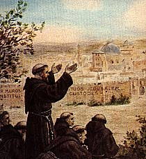 S. Francesco sees the City of Jerusalem
