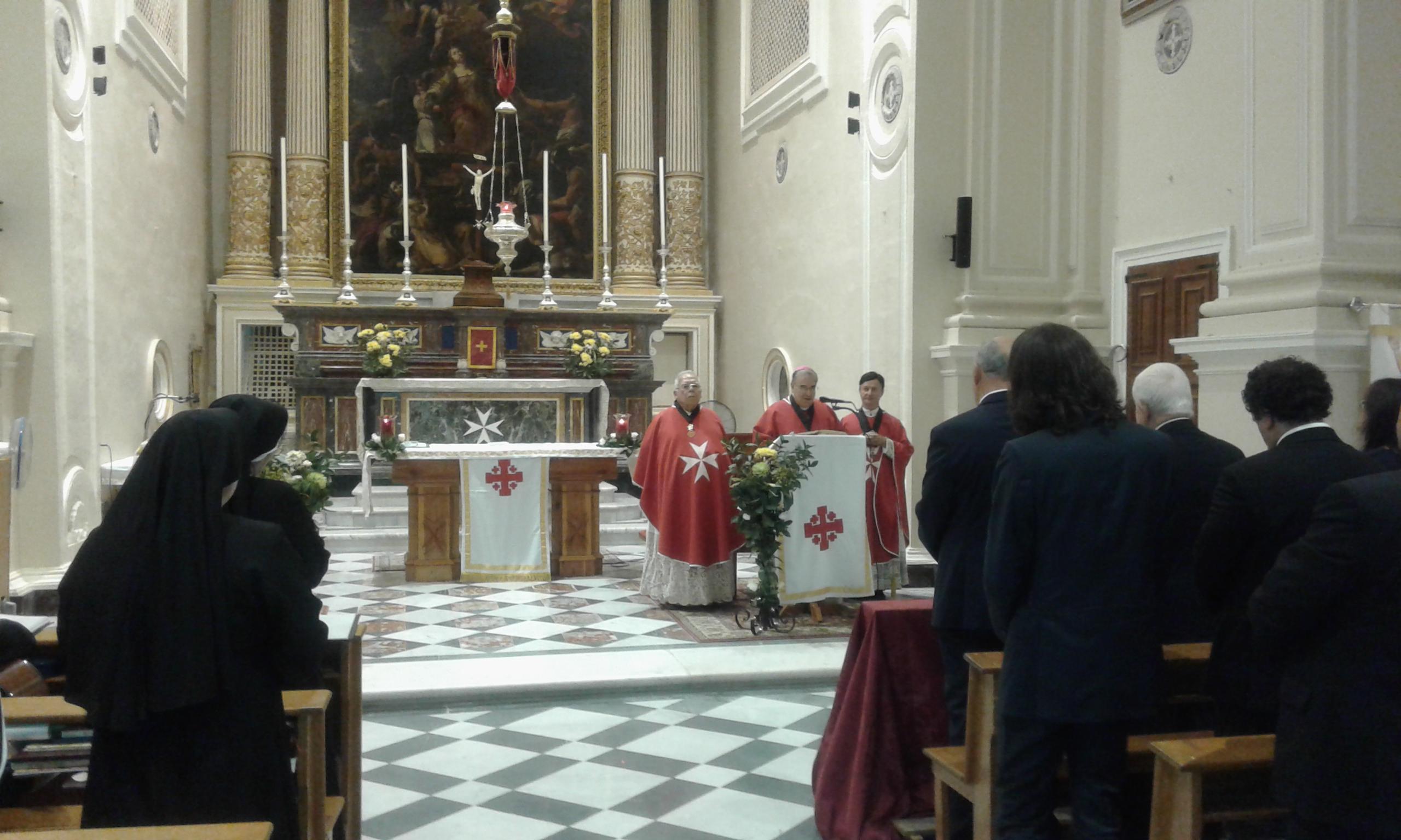 His Grace, Archbishop Emeritus of Malta, Mgr. Paul Cremona O.P celebrating the anniversary mass