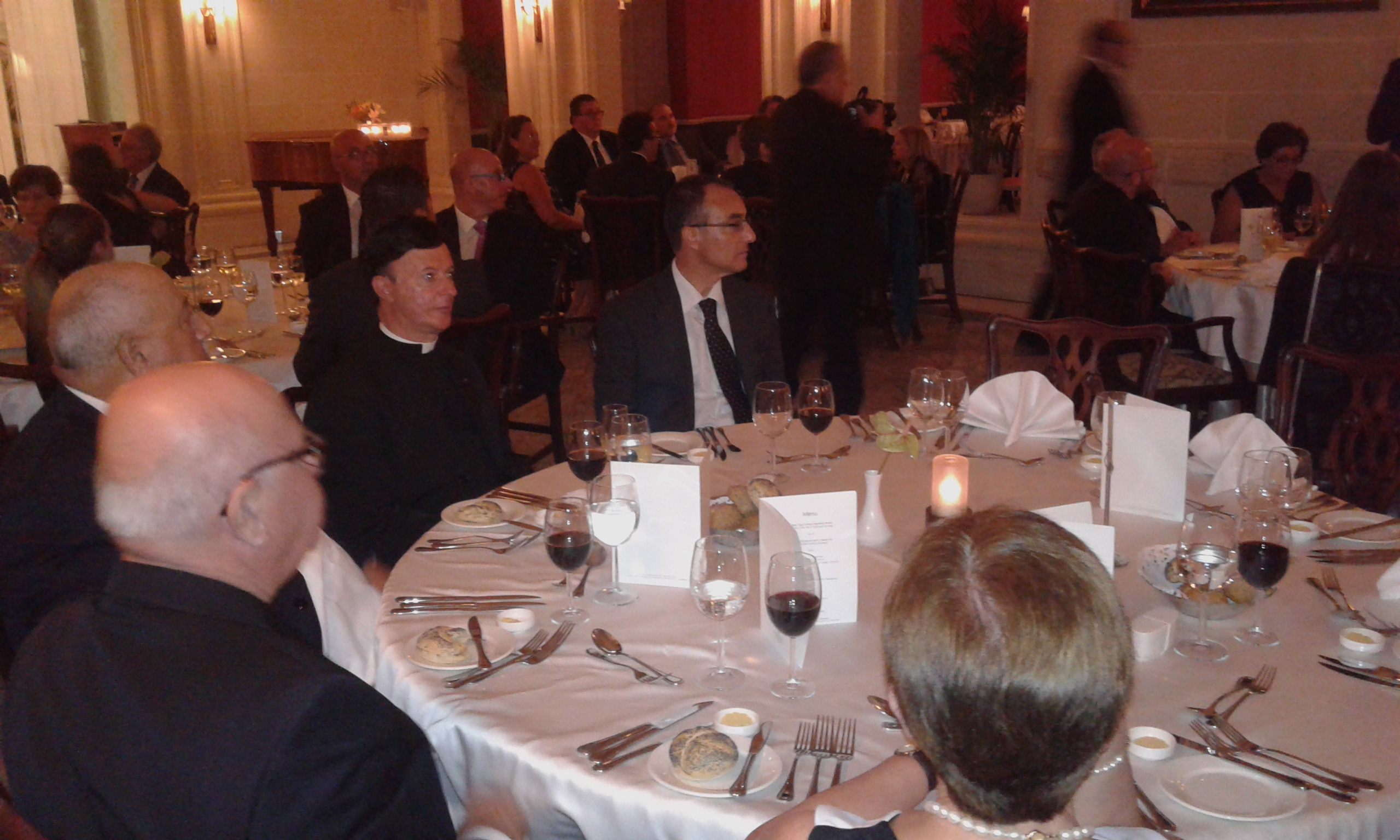 Members of the Orders and some prospective members during dinner